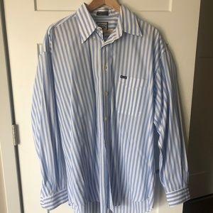 Facconable Striped Button Down Dress Shirt - XL